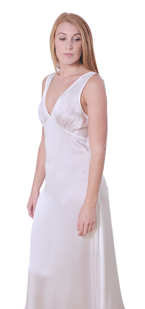 MARYCRAFTS SILK NIGHT GOWN SLEEP SLIP DRESS LONG FULL ... - photo#2